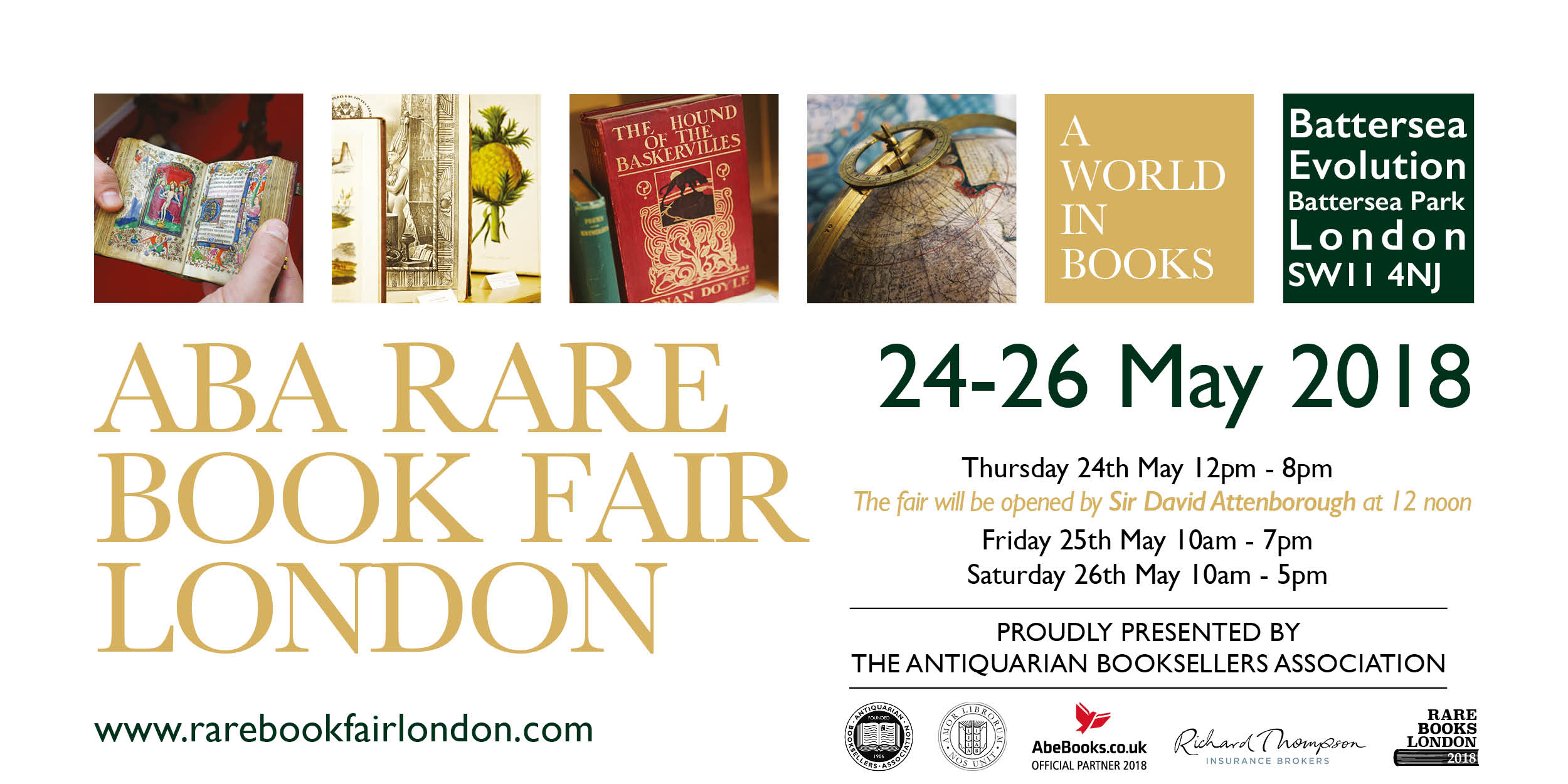 London Antiquarian Book Fair at Battersea Park