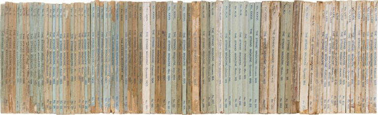 Complete Run of the Sherlock Holmes Stories, As Well as 2 Complete Novels, in the Individual Strand Magazines. Arthur Conan Doyle.