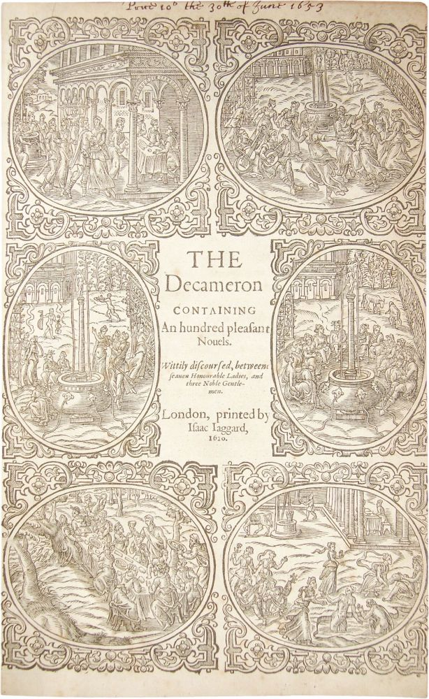 The Decameron; Containing An Hundred Pleasant Novels. Giovanni Boccaccio.