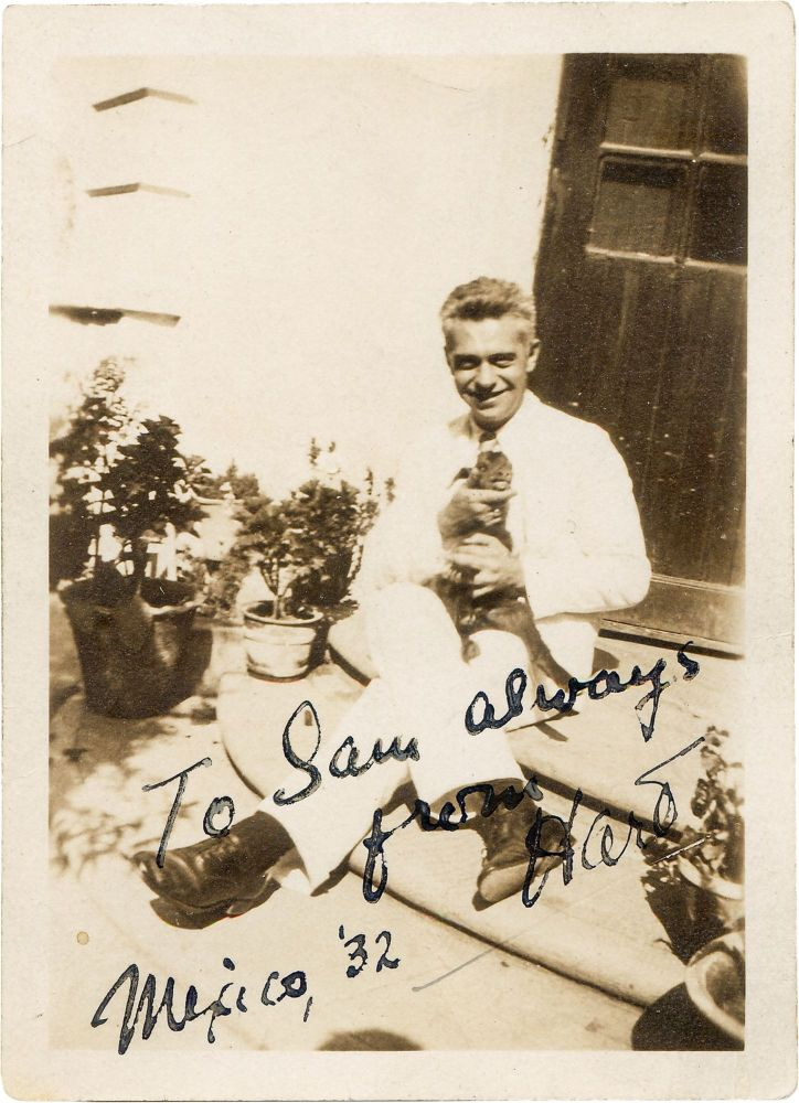 Signed Photograph. Hart Crane.