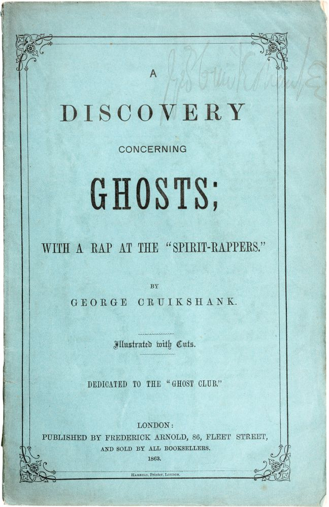 A Discovery Concerning Ghosts. George Cruikshank.
