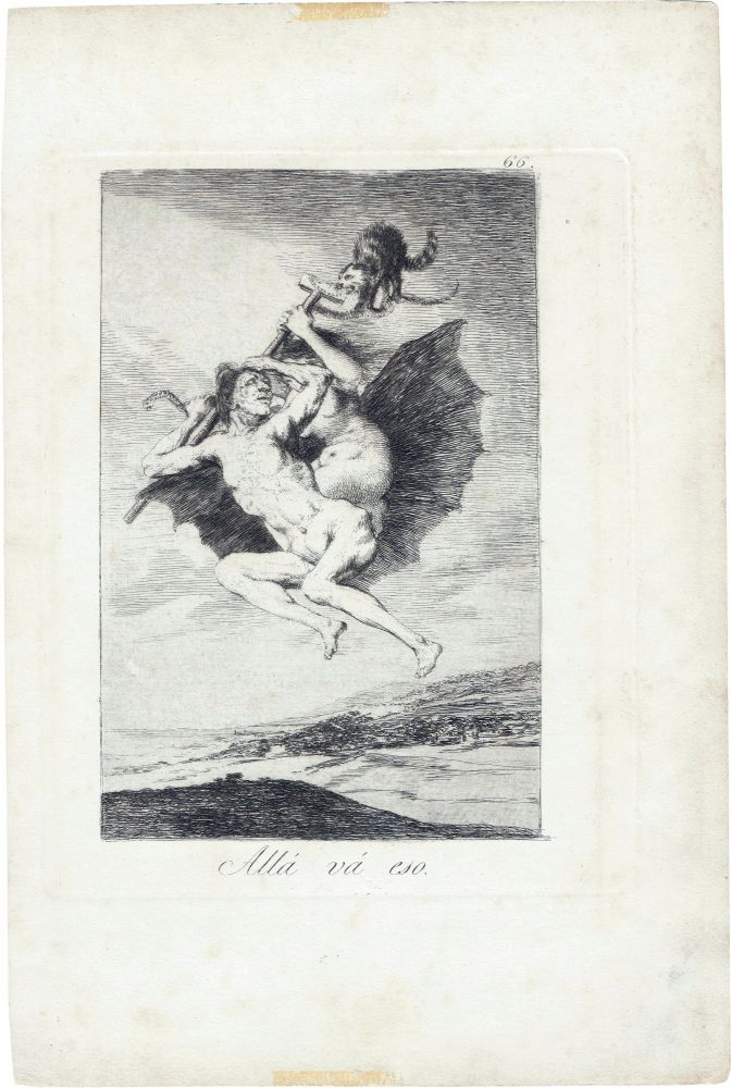 Allá Vá Eso; [There it Goes]. Francisco de Goya.