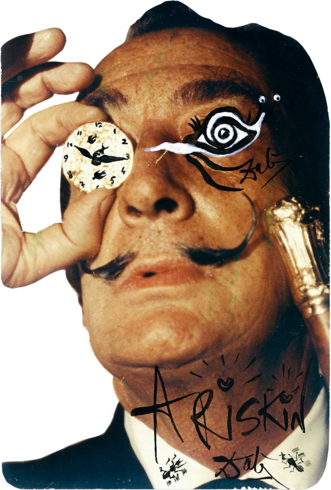 Overpainted Photographic Cutout Portrait. Salvador Dali.