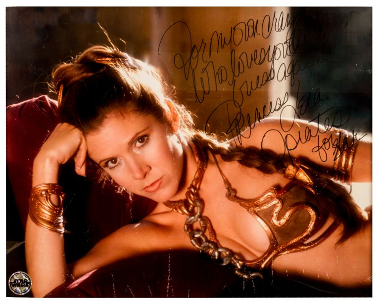 Carrie Fisher; Photograph, Signed. Star Wars.