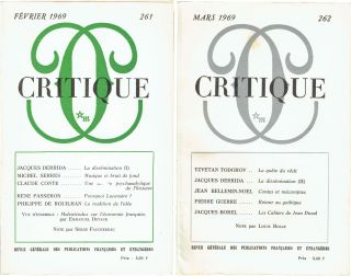 Dissémination I & II [in Critique Magazine]. Jacques Derrida.