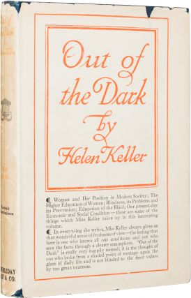 Out of the Dark; Essays, Letters and Addresses on Physical and Social Vision. Helen Keller.