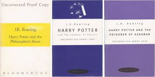 Proofs of the first 3 Harry Potters. J. K. Rowling.