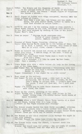 Original Manuscript for the 4th Batman Story