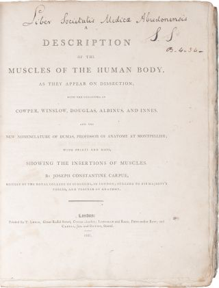 A Description of the Muscles of the Human Body as They Appear on Dissection[…]