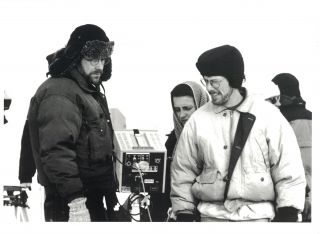 The Coen Brothers, at Work, on the Set of Fargo; [Still Photo]. Photography, James Bridges